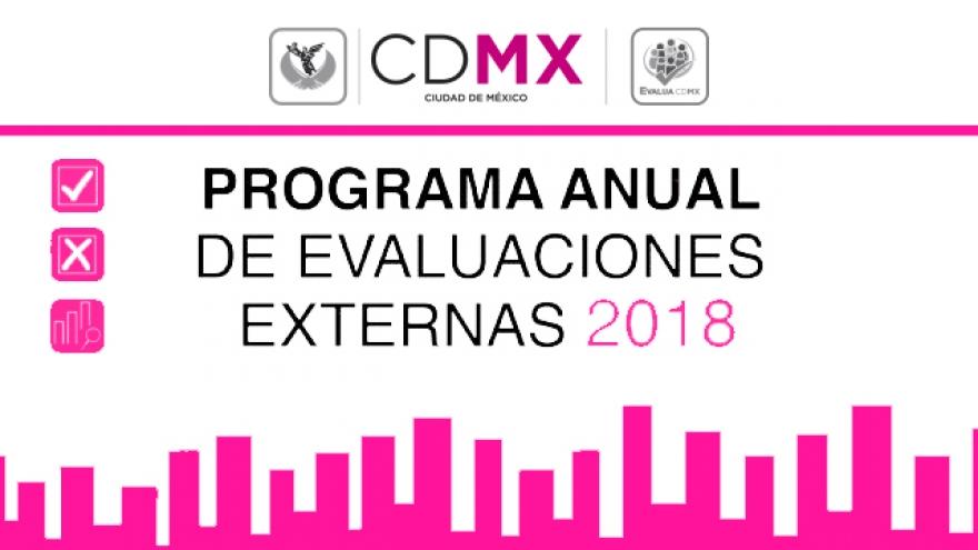 Programa Anual de Evaluaciones Externas 2018