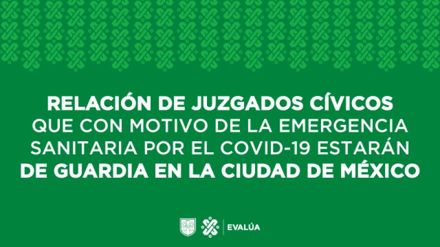 Conoce los Juzgados Cívicos de la CDMX que permanecen en guardia durante la emergencia sanitaria por el COVID-19